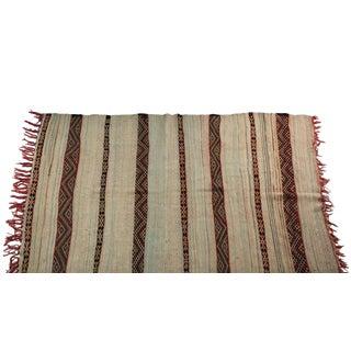 "Vintage Hand Woven Azilal Carpet - 7' X 4'7"""