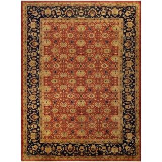 "Kafkaz Peshawar Latoya Rust & Blue Wool Rug - 10'1"" x 13'2"""