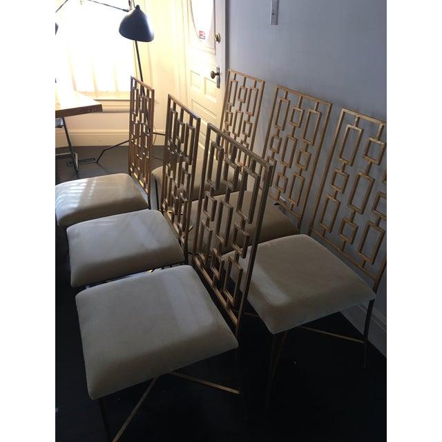 Worlds Away David Gold Iron Chairs - Set of 6 - Image 6 of 11