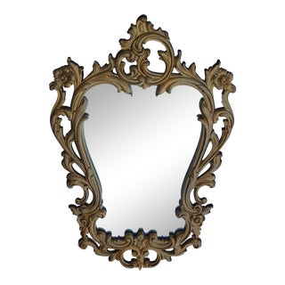 Syroco Rococo French Provincial Gold Scroll Wall Mirror
