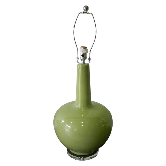 Green Porcelain Table Lamp - Image 1 of 5