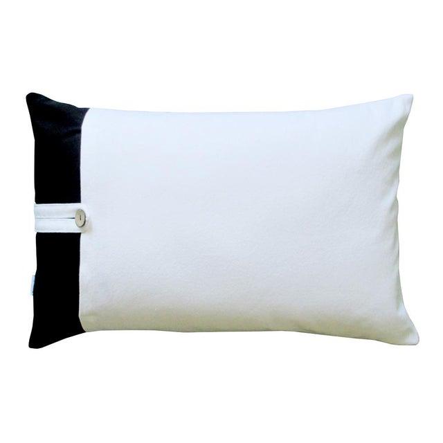Black & White Geometric Design Throw Pillow - Image 2 of 2