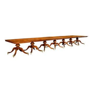 Incredible English Mahogany Seven-Pedestal Dining Table