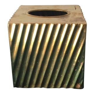 Brass Minimalist Tissue Box Holder