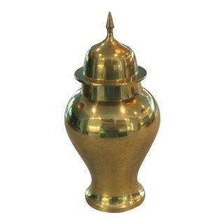 Vintage Lidded Brass Urn