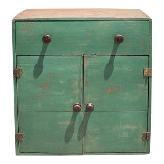 19th Century Early Original Painted Cabinet