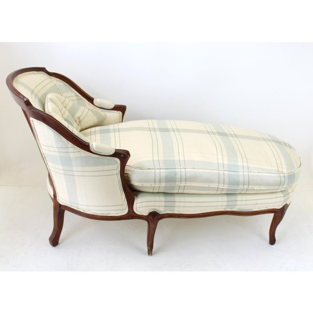 Vintage french country chaise lounge chairish for Antique french chaise lounge