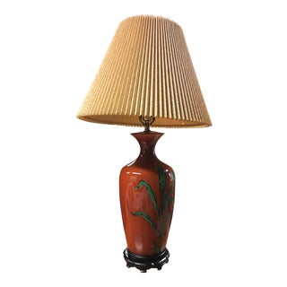 Vintage Green & Orange Table Lamp