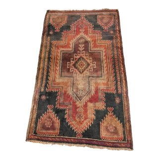 "Vintage Turkish Oushak Area Rug - 2'10"" X 4'9"""