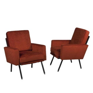 Pair of Guariche Style Armchairs, French, 1950s