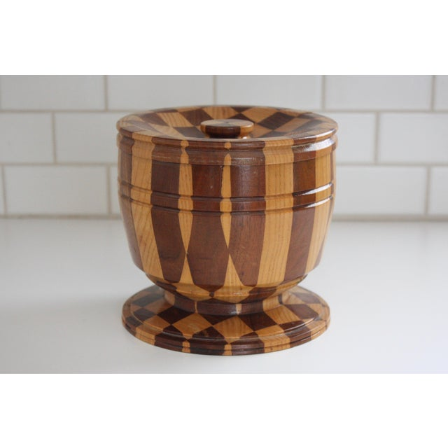 Lidded Wooden Pedestal Bowl - Image 2 of 10