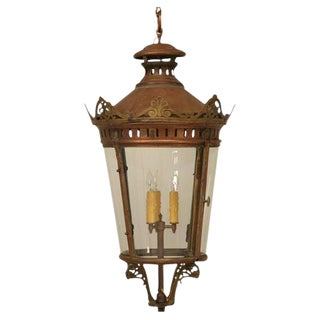 French Antique Copper Lantern