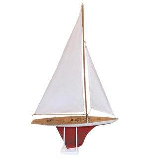 Vintage Solid Wood Sailboat