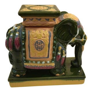 MCM Ceramic Elephant Mini Garden Stool