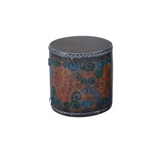 Leather Tibetan Drum Table