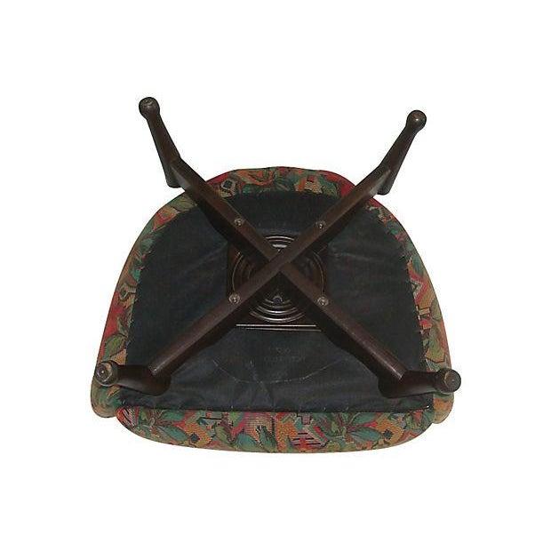 mid century modern swivel barrel chair chairish. Black Bedroom Furniture Sets. Home Design Ideas