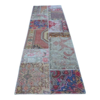 Vintage Handwoven Decorative Anatolian Runner - 2′11″ × 10′
