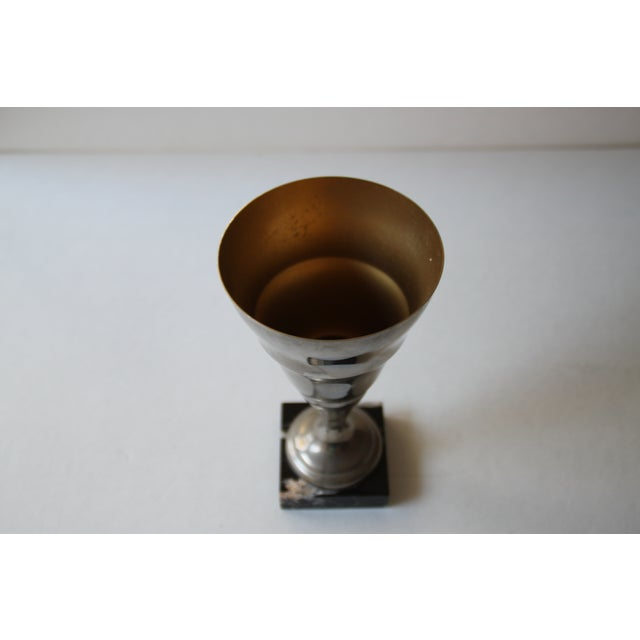 Image of Vintage Art Deco French Silver Trophy Cup