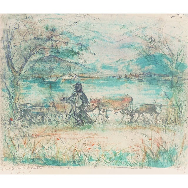 """Homeward Bound"" Lithograph by Edna Hibel - Image 1 of 7"