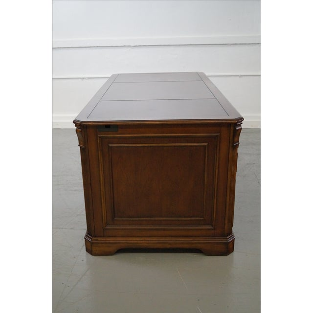 Hooker Leather Top Executive Desk - Image 3 of 10