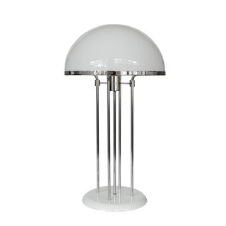 Modernist Chrome Acrylic Dome Table Lamp