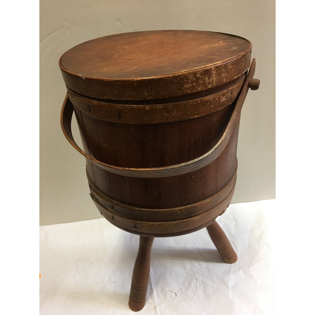 Image of Vintage Wood Humidor & Pipe Rack / Container
