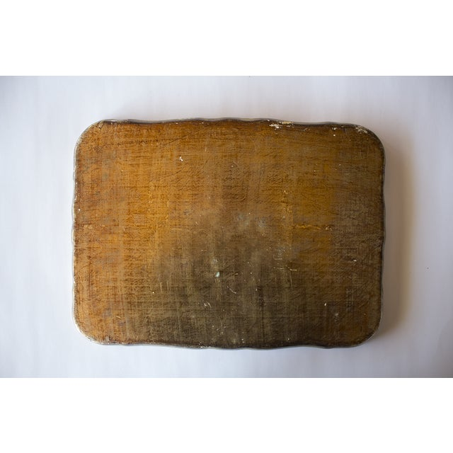 Vintage Italian Gold Pressed Tray - Image 3 of 3
