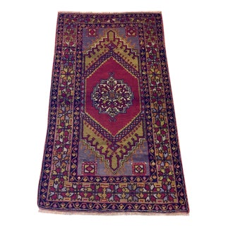Yahyali Turkish Antique Rug - 3′9″ × 6′4″
