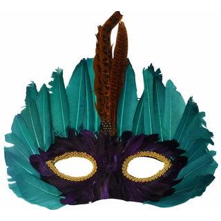 Vintage 1960s Mardi Gras Feather Mask