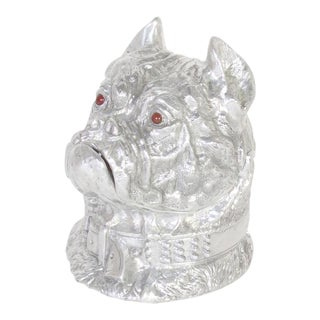 Amusing Arthur Court Cast Aluminum Bulldog Ice Bucket