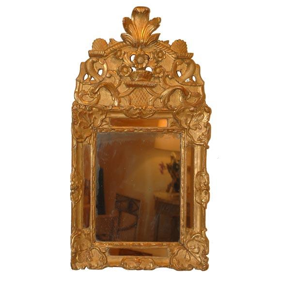 French Regency Gilt Wood Mirror - Image 1 of 3