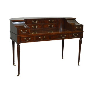 Mahogany Regency Style Carlton House Desk by Sligh