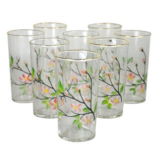 Vintage Hand-Painted Cocktail Glasses - 8