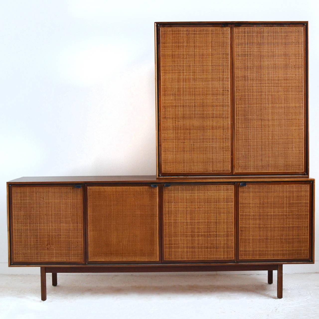 Teak Cane Front Credenza And Cabinet By Founders   Image 4 Of 11