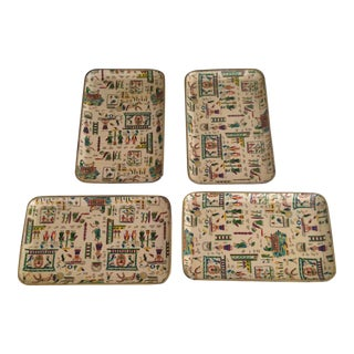 Vintage Decoupage Trays - Set of 4