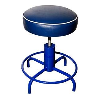 Vintage Electric Blue Stool