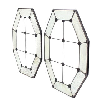 Pair of Large Octagon Wall Mirrors