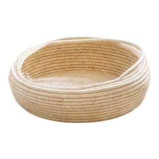 Hand Woven Raffia Floor Basket
