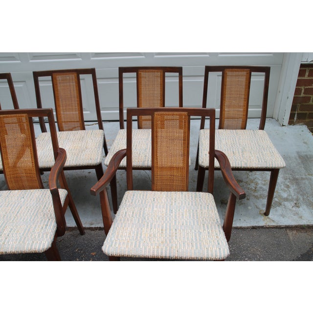 Mid-Century Hibriten Cane Back Chairs - Set of 6 - Image 4 of 11