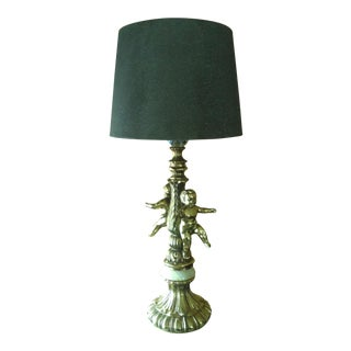 Vintage Brass & Marble Table Lamp