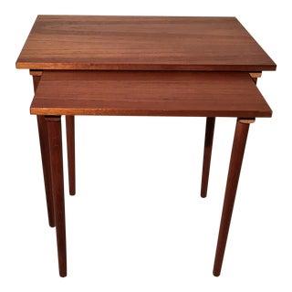 Teak Nesting Side Tables - A Pair
