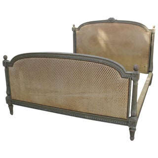French Louis XVI Style Bed with a Painted Finish