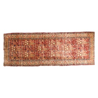Antique Kerman Fragment Rug - 4' x 10'10""
