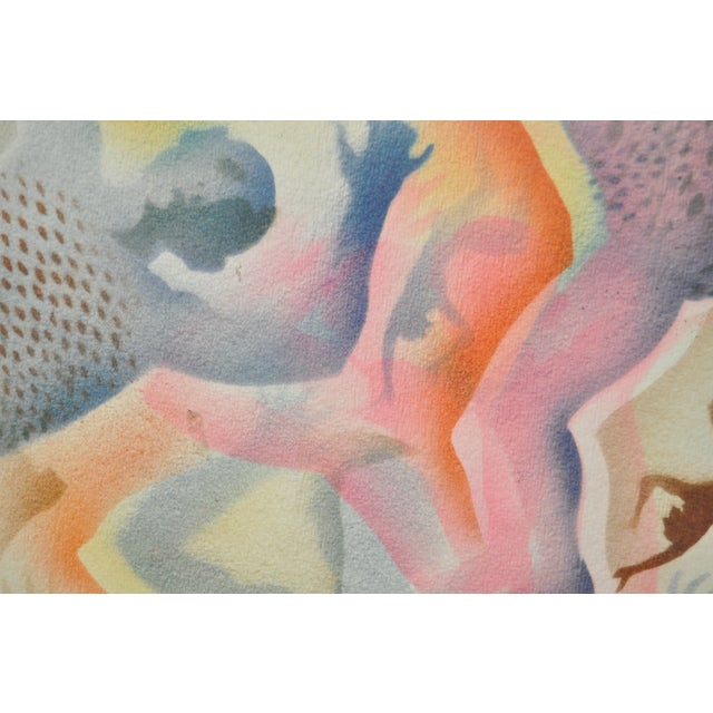 Mid-Century Modern Airbrush Painting by McBride - Image 9 of 11