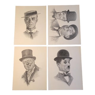 Vintage Bill Bates Print Portfolio - Set of 4