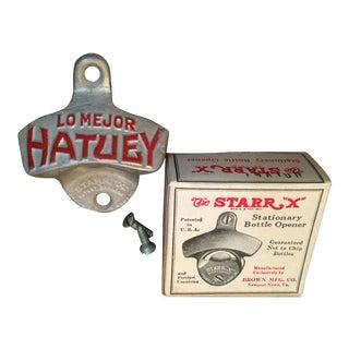 1950s Lo Mejor Hatuey Wall Mount Bottle Opener