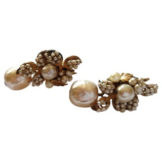 1955 Miram Haskell Pearl Earrings