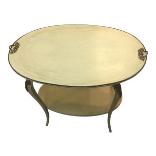 French Style Green Side Table