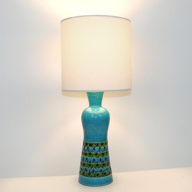 Bitossi Raymor Rimini Blue Pottery Lamp - Image 7 of 7