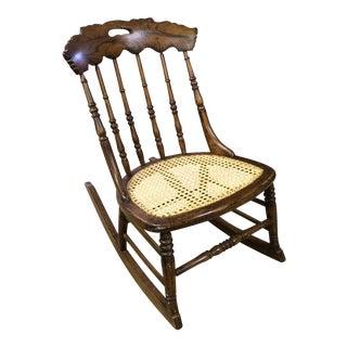 Detroit Chair Company Cane Rocker
